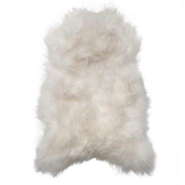 IJslands schapenvacht wit 110cm ongeschoren